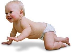 El gateo en los bebés